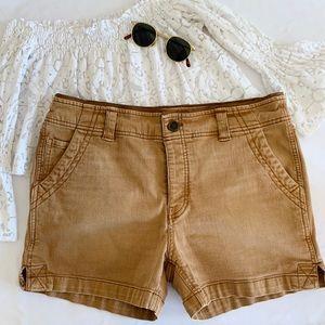 Free People 🌵 Copper Brown Boyfriend Denim Shorts